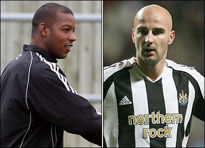 Titus Bramble (left) and Antoine Sibierski