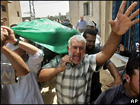 Funeral of Hamas militant in Gaza - file photo