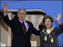 George W. Bush y Laura Bush