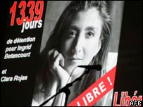 A poster in Paris in October 2005 appeals for Ingrid Betancourt's release
