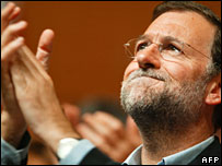 Spain's opposition Popular Party leader Mariano Rajoy (file picture)
