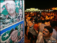 Protest against media restrictions, Islamabad, May 2007