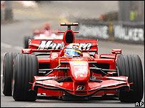 Felipe Massa's Ferrari during the Monaco Grand Prix