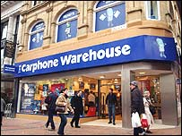 Carphone Warehouse storefront