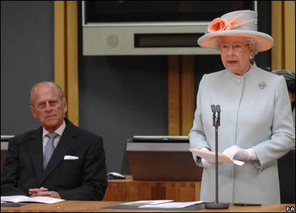 The Queen addressed the assembly members who were all elected last month