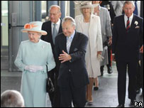 The Queen with Presiding Officer Dafydd Elis-Thomas