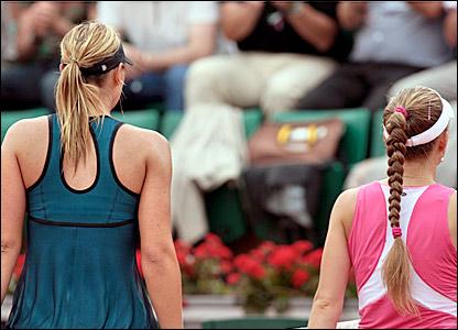 Maria Sharapova and Anna Chakvetadze