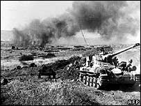 Israeli tanks on the Golan Heights in June 1967
