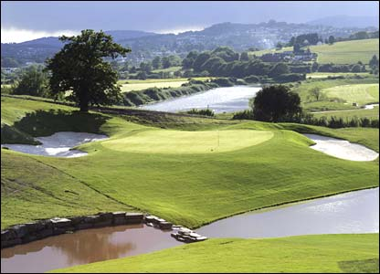 Hole 18, 613 yards, Par 5 the Ryder Cup Course at Celtic Manor (photo: sportingwales.com)