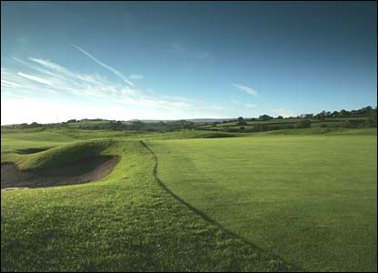 Hole 1, 465 yards, Par 4 the Ryder Cup Course at Celtic Manor (photo: sportingwales.com)