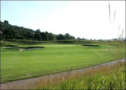 Hole 10, 210 yards, Par 3 the Ryder Cup Course at Celtic Manor (photo: sportingwales.com)