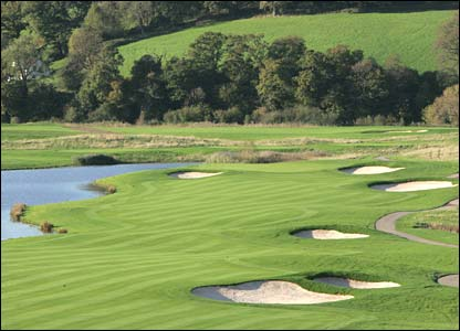Hole 11, 562 yards, Par 5 the Ryder Cup Course at Celtic Manor (photo: sportingwales.com)