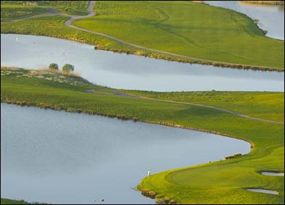 Hole 13, 189 yards, Par 3 the Ryder Cup Course at Celtic Manor (photo: sportingwales.com)