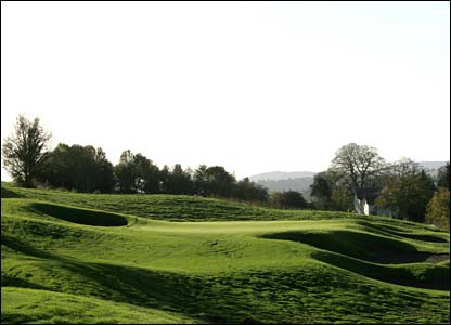 Hole 17, 211 yards, Par 3 the Ryder Cup Course at Celtic Manor (photo: sportingwales.com)
