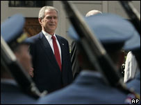 US President George W Bush in Prague 05-06