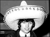 George Best wearing a sombrero
