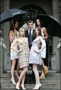 Alex Bell and models at Chic launch
