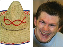 Ricky Hatton and sombrero