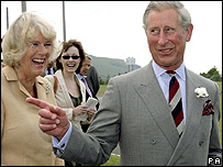 Duchess of Cornwall and the Prince of Wales in Ystradgynlais, Powys