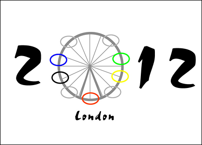 Carolina Bedoya's design for an Olympic logo. The London Eye features in