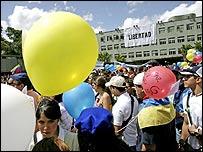 Manifestación de estudiantes en Caracas