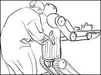 Dibujo del robot BEAR (Imagen: Vecna Robotics)