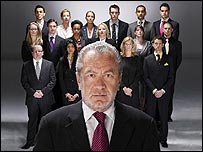 Sir Alan Sugar with The Apprentice contenders