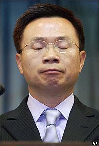 El canciller de Taiwán, James Huang