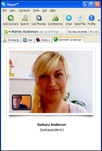 Skype screenshot