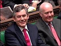 Gordon Brown and John Reid