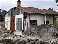 House partially demolished