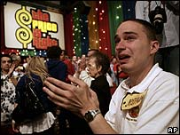 Fan at filming of The Price is Right