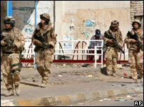 British soldiers on patrol in Iraq