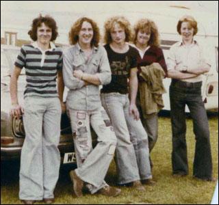 Auchenlarie caravan park Scotland in 1978
