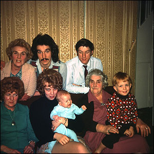 The Hinton family in Bromley, 1976