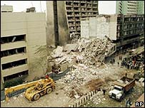 Aftermath of US embassy bombing in 1998