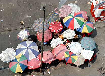 Umbrellas in Kinshasa