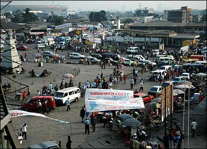 A square in Kinshasa