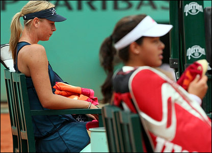 Maria Sharapova and Ana Ivanovic