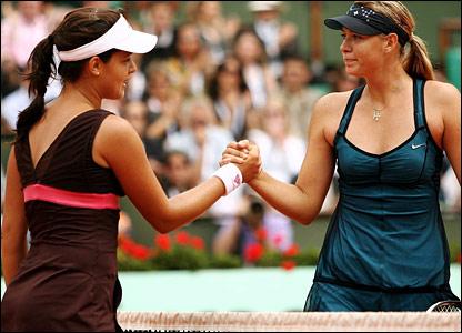 Ana Ivanovic and Maria Sharapova