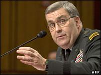 Lt Gen Douglas Lute at his Senate confirmation hearing