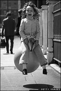 Child on Space Hopper