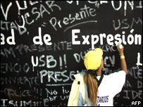 Protesta estudiantil en Caracas