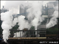 Chinese steel plant - file photo