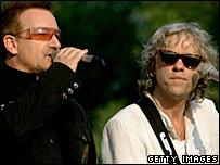 Bono y Bob Geldof