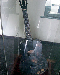 Bob Marley's first guitar in Trench Town