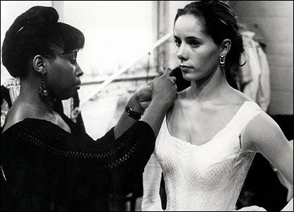 Darcey Bussell at a fitting for the Royal Opera House production of Don Quixote.