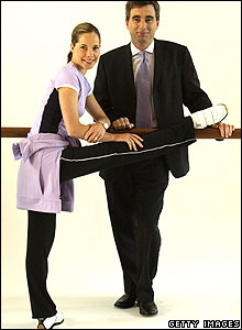 Ballerina Darcey Bussell and Marks and Spencer Chief Executive Roger Holmes