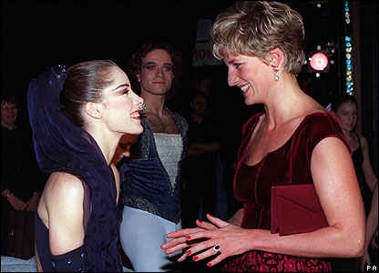 Darcey Bussell and Princess Diana