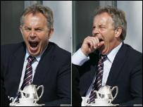 Тони Блэр на Большой восьмерки в Германии